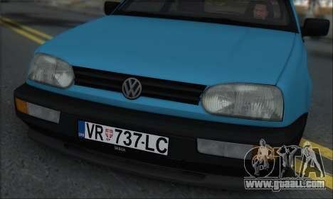 Volksvagen Golf Mk3 for GTA San Andreas back left view