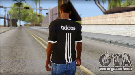 Adidas Black T-Shirt for GTA San Andreas second screenshot