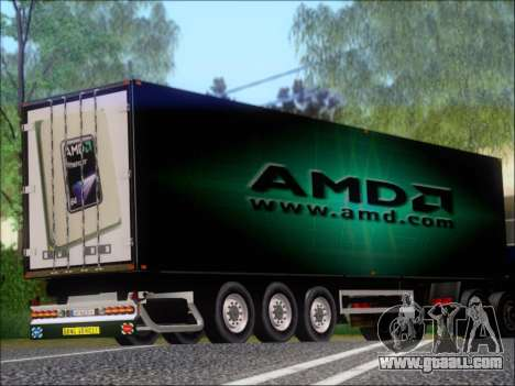 Trailer AMD Phenom X4 for GTA San Andreas right view