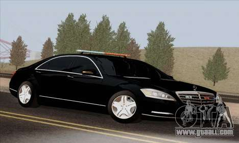 Mercedes-Benz S600 W221 2012 for GTA San Andreas