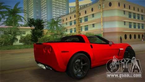 Chevrolet Corvette 2010 for GTA Vice City left view