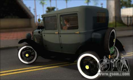 Ford T 1927 for GTA San Andreas back left view
