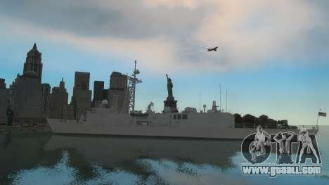 U.S. Navy frigate for GTA 4 back left view