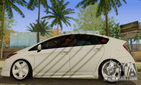 Toyota Prius Tunable for GTA San Andreas back left view