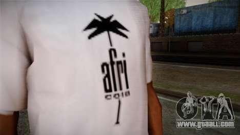 Afri Cola White Shirt for GTA San Andreas third screenshot