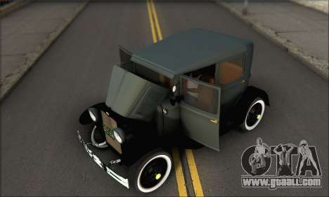 Ford T 1927 for GTA San Andreas inner view
