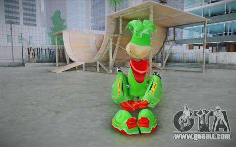Vortex Rayman Skin for GTA San Andreas second screenshot