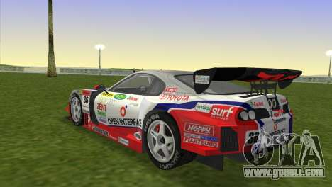 Toyota Supra RZ JZA80 Super GT Type 6 for GTA Vice City left view