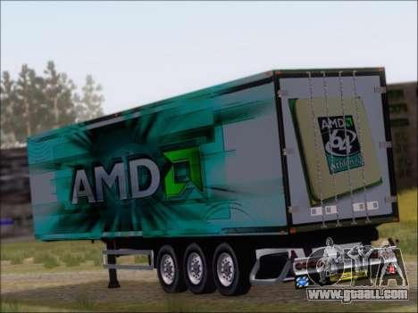 Trailer AMD Athlon 64 X2 for GTA San Andreas back left view
