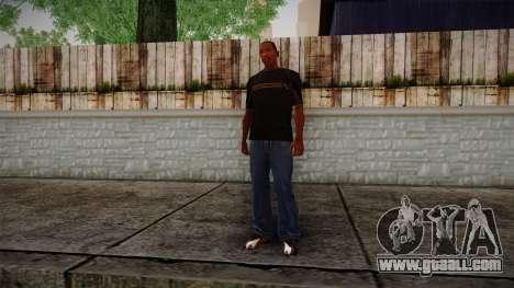Black RX T-Shirt for GTA San Andreas third screenshot