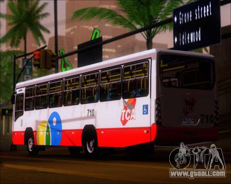 Neobus Mega IV - TCA (Araras) for GTA San Andreas back left view