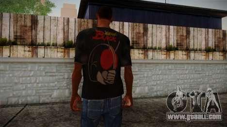 Black RX T-Shirt for GTA San Andreas second screenshot