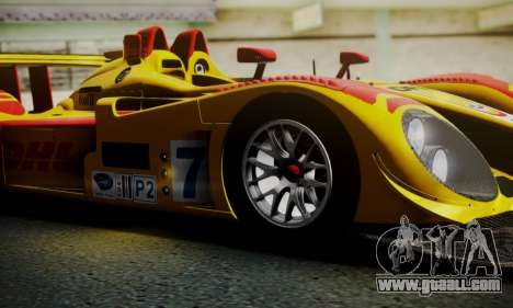 Porsche RS Spyder Evo 2008 for GTA San Andreas bottom view