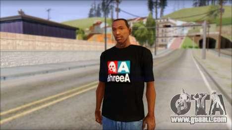 ThreeA T-Shirt for GTA San Andreas
