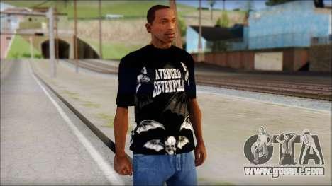 A7X Deathbats Fan T-Shirt Black for GTA San Andreas