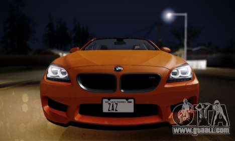 BMW M6 F13 2013 for GTA San Andreas back left view