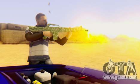Camo M16 for GTA San Andreas second screenshot