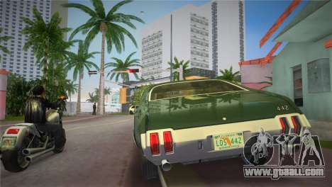 Oldsmobile 442 1970 for GTA Vice City back left view
