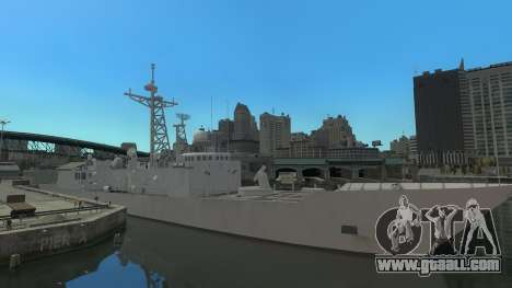 U.S. Navy frigate for GTA 4 left view