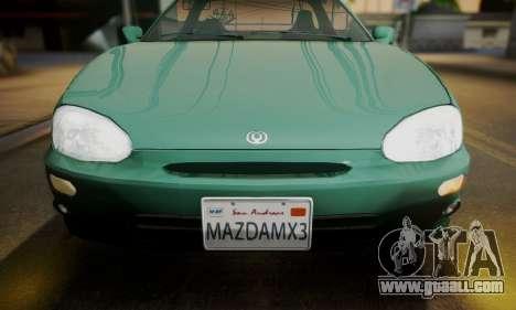 Mazda MX-3 for GTA San Andreas back left view
