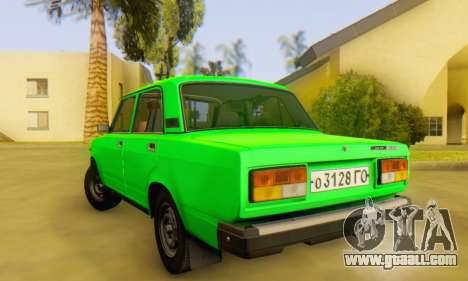 VAZ 2107 Stock for GTA San Andreas back view