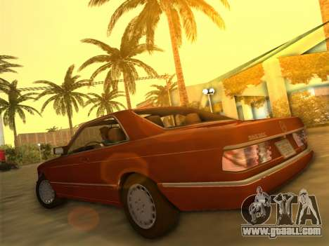 Mercedes-Benz 560SEC (W126) 1987 for GTA Vice City left view