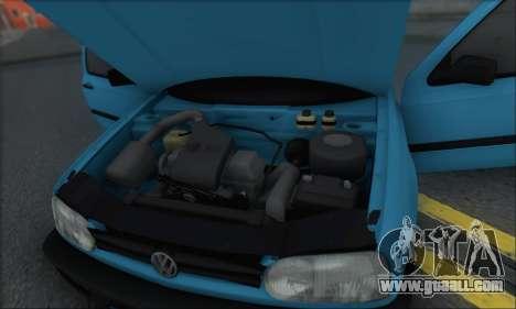 Volksvagen Golf Mk3 for GTA San Andreas bottom view
