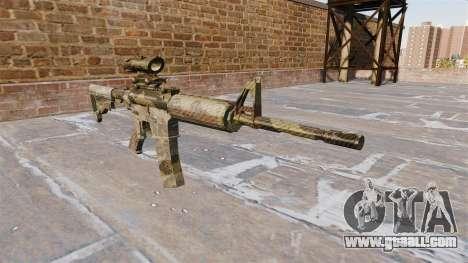 Automatic carbine MA Flora Camo for GTA 4