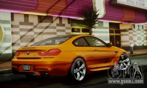 BMW M6 F13 2013 for GTA San Andreas back view