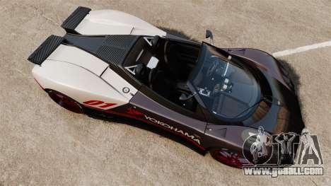 Pagani Zonda C12S Roadster 2001 v1.1 PJ4 for GTA 4 right view