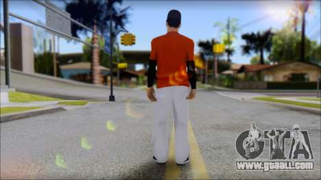 Polera Naranja con Gorro for GTA San Andreas second screenshot