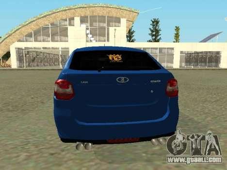Lada Granta Liftback for GTA San Andreas back view