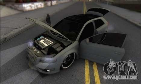 Audi S3 2006 Custom for GTA San Andreas bottom view