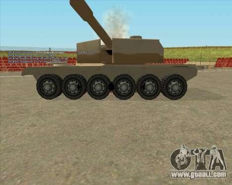 Dozuda.s Primary Tank (Rhino Export tp.) for GTA San Andreas back view