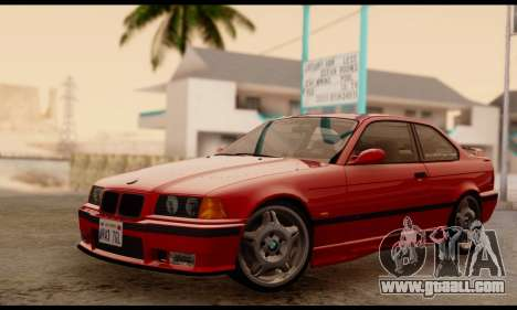 BMW M3 E36 1994 for GTA San Andreas back left view