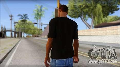 Black Izod Lacoste T-Shirt for GTA San Andreas second screenshot
