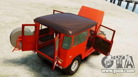 Toyota FJ40 Land Cruiser 1978 Beta for GTA 4 back view