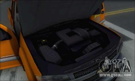 Chevrolet Colorado Cleaning for GTA San Andreas interior