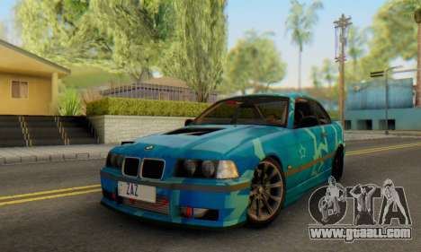 BMW M3 E36 Coupe Blue Star for GTA San Andreas