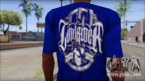 Lowrider Blue T-Shirt for GTA San Andreas third screenshot