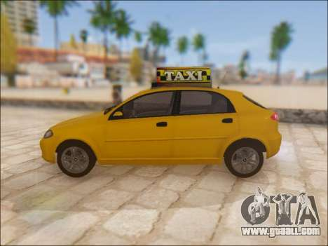 Chevrolet Lacetti Taxi for GTA San Andreas left view