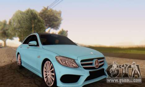 Mercedes-Benz C250 AMG for GTA San Andreas back view