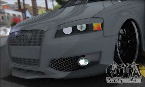 Audi S3 2006 Custom for GTA San Andreas back left view