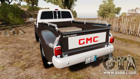 GMC 454 Pick-Up for GTA 4 back left view