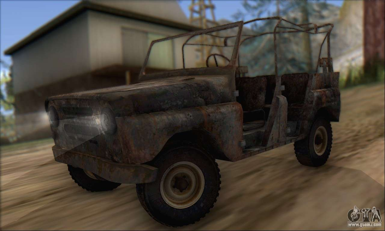 burnt uaz 469 for gta san andreas. Black Bedroom Furniture Sets. Home Design Ideas