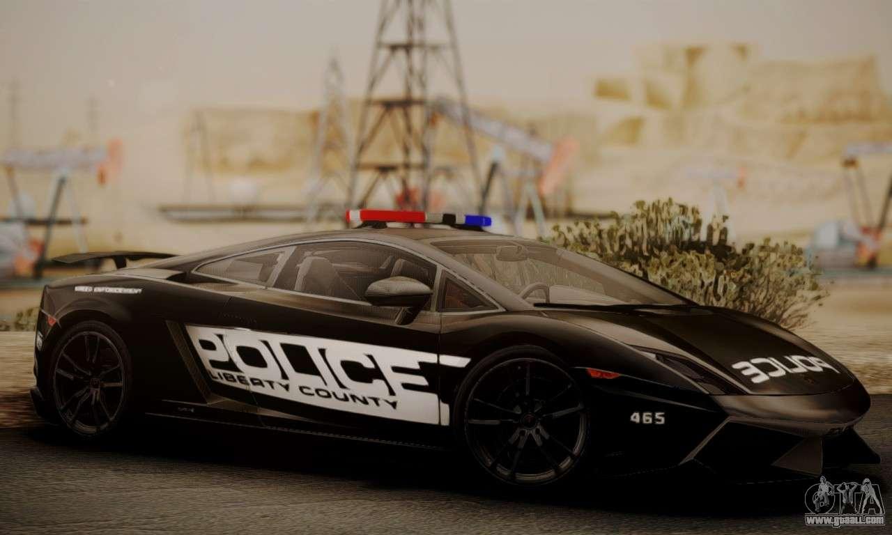 Lamborghini Gallardo Lp 570 4 2011 Police V2 For Gta San