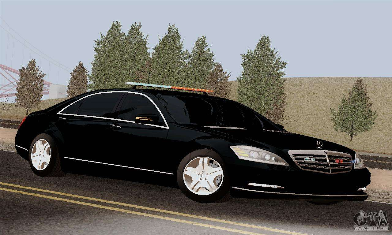 Mercedes-Benz S600 W221 2012 for GTA San Andreas Мерседес S600 2012