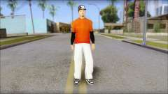 Polera Naranja con Gorro for GTA San Andreas