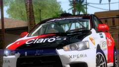 Mitsubushi Lancer Evolution Rally Team Claro for GTA San Andreas