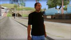 Black Izod Lacoste T-Shirt for GTA San Andreas